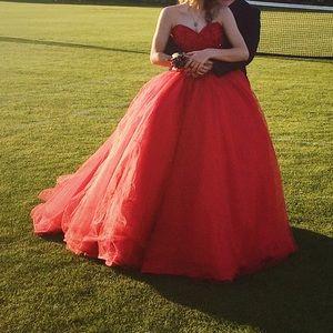 Mori Lee Dresses - Red Mori Lee Junior Prom Dress